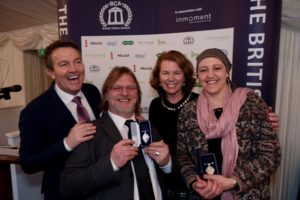 Bradley Walsh, Sandy Kerr, Alison Eddy and Martha Lester-Cribb at the British Citizen Awards